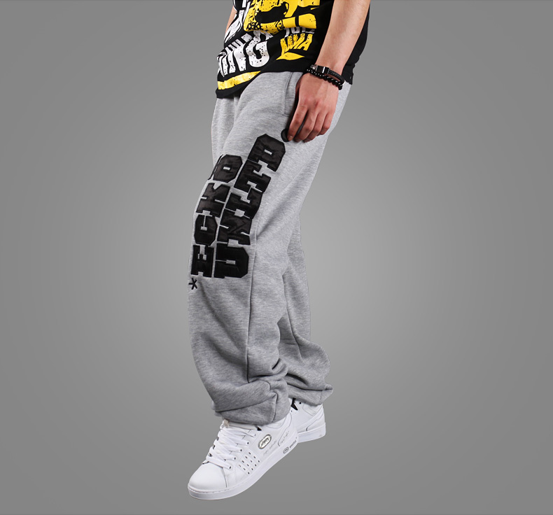 High-Quality Hip-Hop Winter Baggy Pants Loose Trousers Digital Letter Printed Cotton Woolen Streetwear Men Breathable Sweetpant
