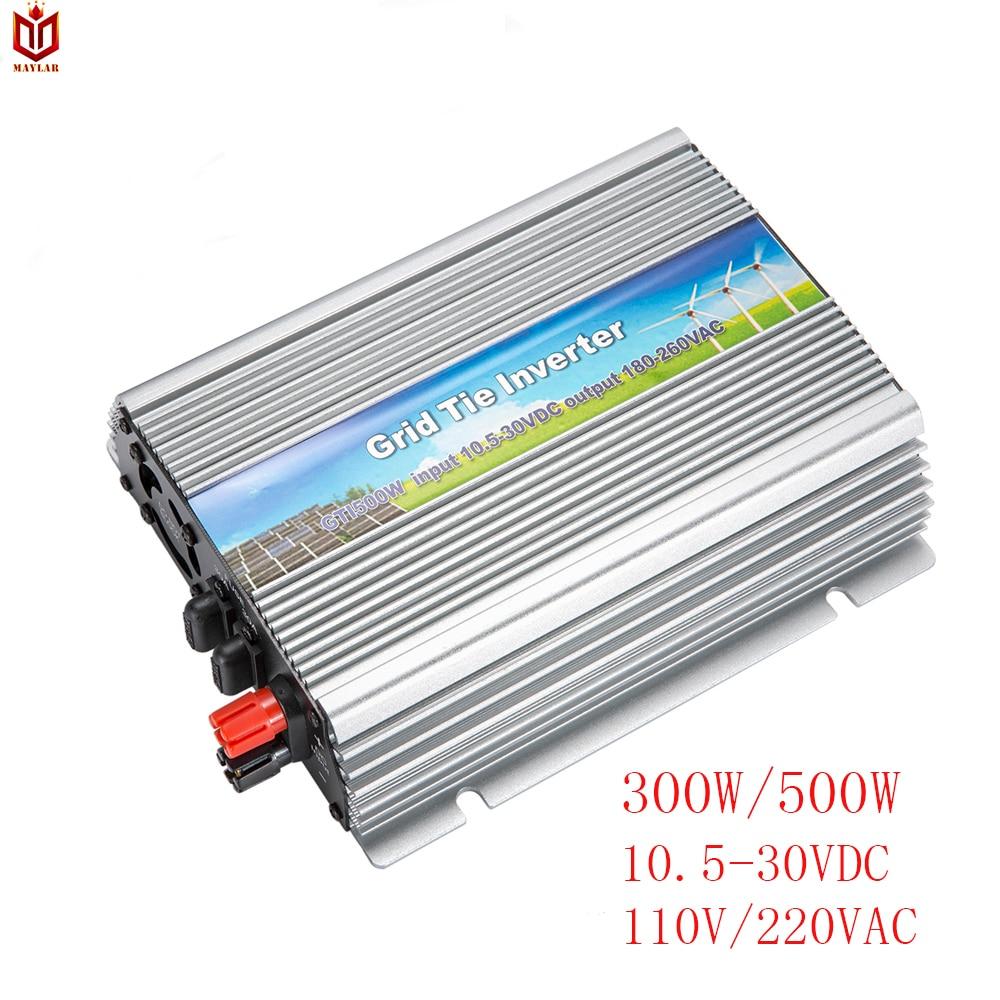 MAYLAR 300W 500W Solar Grid Tie Pure Sine Wave Inverter Power Supply 10 5 30VDC 90