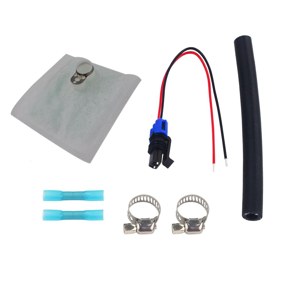 Walbro 450lph E85 Compatiable Universal Fuel Pump /& Installation Kit
