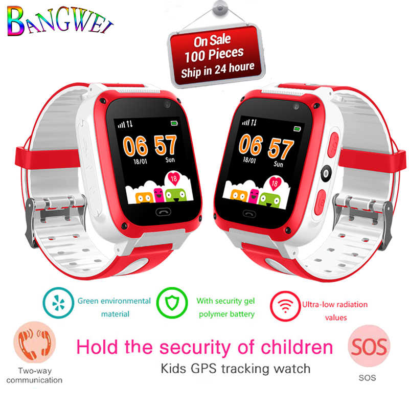 BANGWEI 2018 جديد ساعة ذكية لتحديد المواقع طفل smarthours مكافحة خسر ساعة ذكية لتتبع الأطفال للأطفال ساعة لتحديد المواقع للأطفال محدد تعقب + صندوق