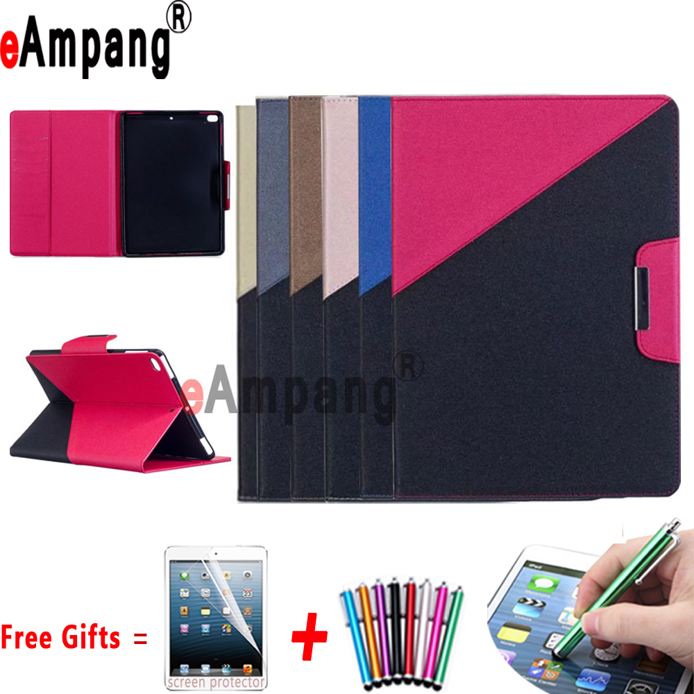 Double Color Magnetic Leather Tablet Protector Smart Case Soft TPU Cover for Apple iPad  ...
