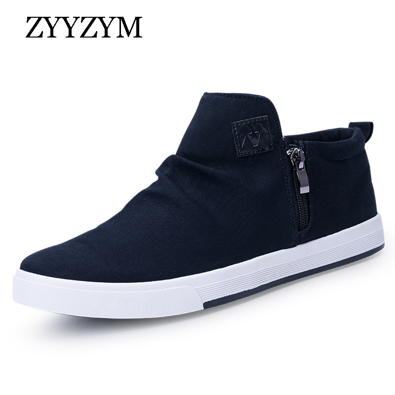 ZYYZYM Men Shoes Canvas Spring Autumn New Arrival 2019 Hot Sale Shoes Men High Top Style Fashion Sneakers Men Casual Shoes