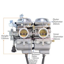 GOOFIT Twin Carburetor Double Cylinder Carb for Honda Chamber 250cc Rebel CMX CMX250 CA250 N090-050