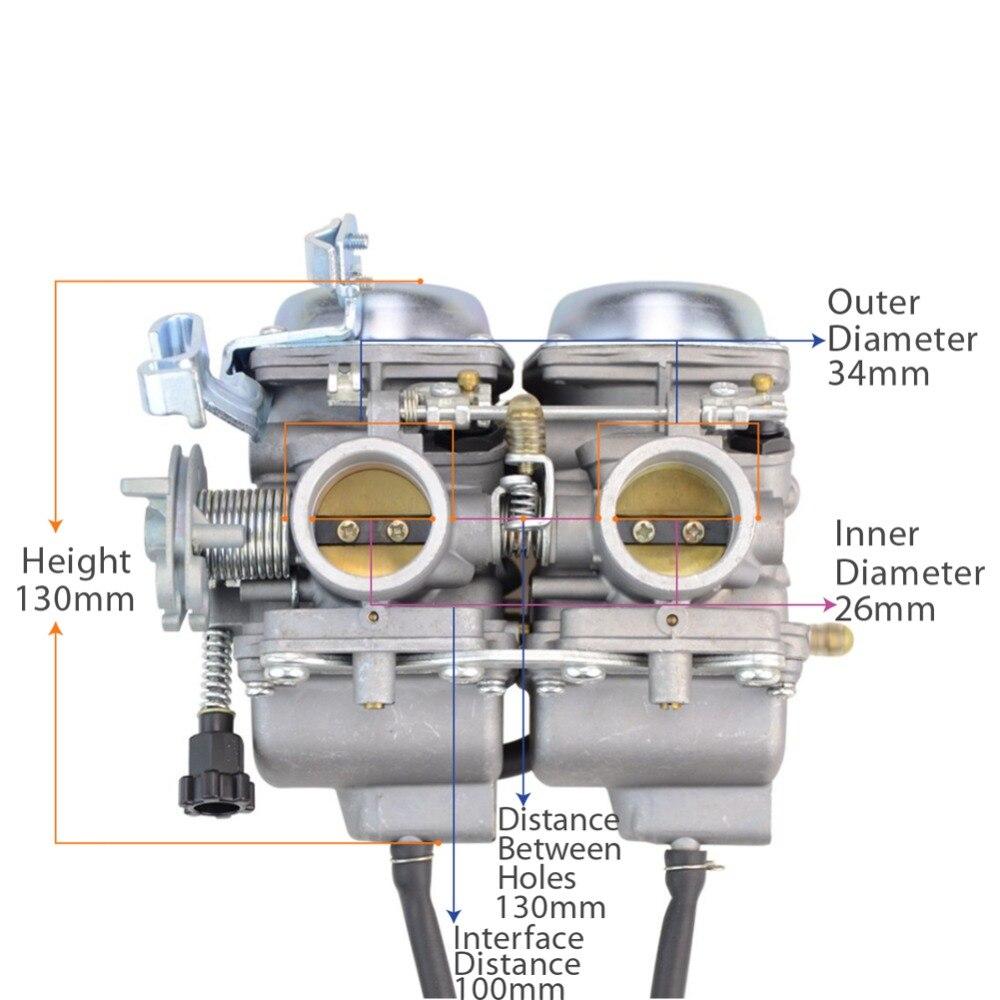 GOOFIT Twin Carburetor Double Cylinder Carb for Honda Chamber 250cc Rebel CMX 250cc CMX250 CA250 N090-050