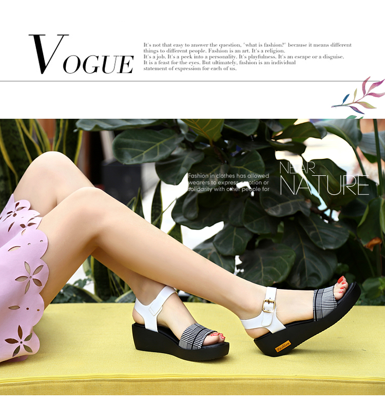 Sandals Female Summer Flat 2019 New Wild With High Heel Wedges Comfortable Non-slip Soft Bottom Pregnant Women Mother Shoes 62