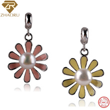 цена на Zhaoru 925 Sterling Silver Enamal  Pendant Charm Fit Pandora Bracelet & Bangle & Necklace DIY Jewelry Charm