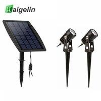 2PCS LOT LED Spot Lights Solar LED Lamp Outdoor Garden Landscape Projector Decorative Spike Solar Lights