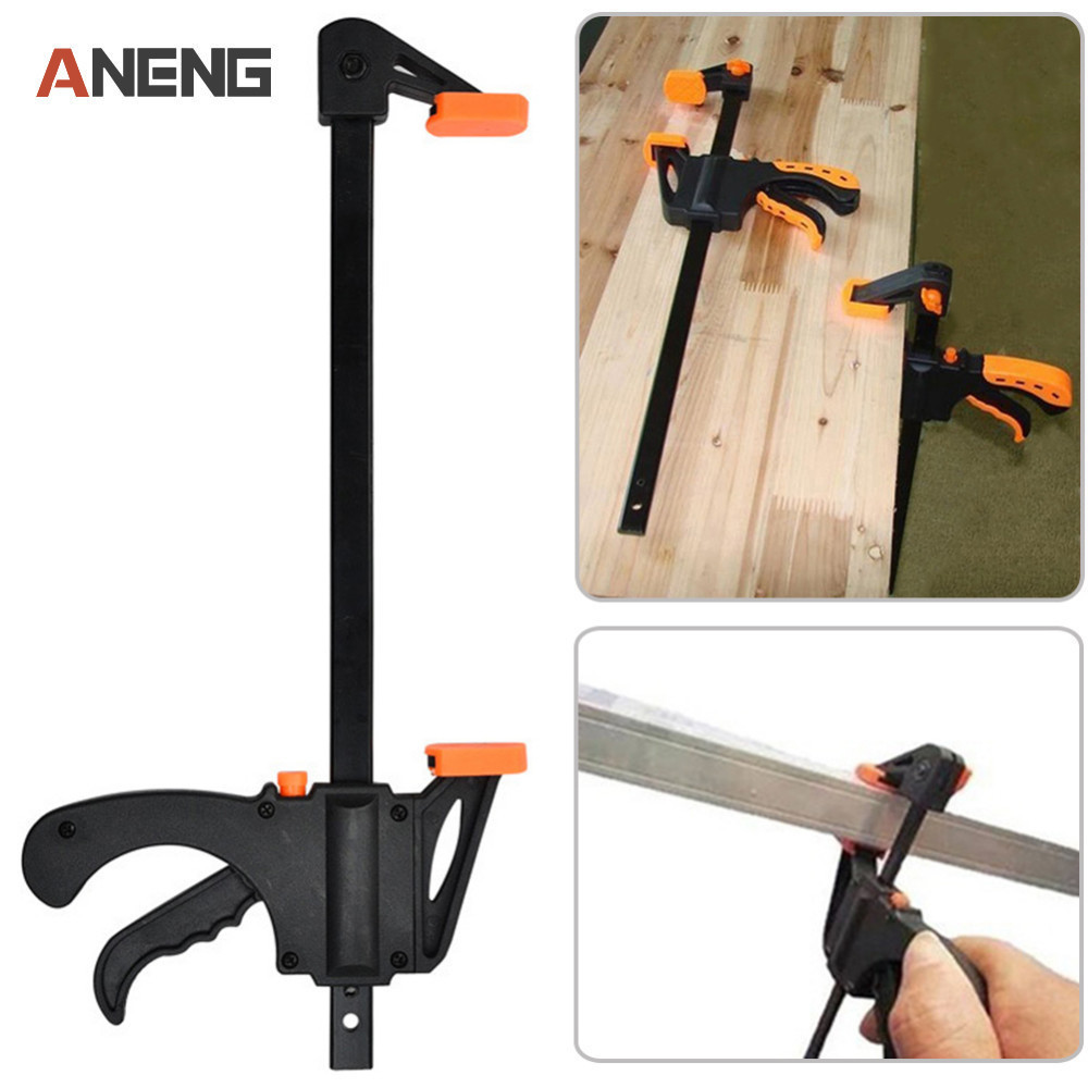 4 Inch Adjustable Woodwork Bar F-Clamp Heavy Duty for Woodworking Wood Clamping Carpenter Tool Carpenter Clamp