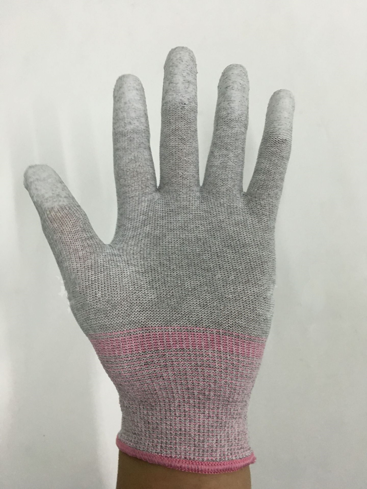 Hot Gray PU Mittens Gloves Fingertip Nylon Dipped Protective Gloves Breathable Non-slip Safety Gloves Workplace Safety Supplies