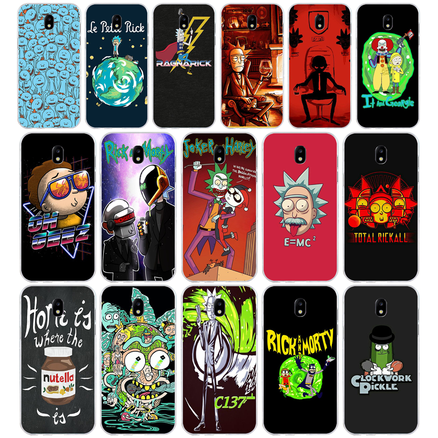 227A Funny Cartoon Comic Meme Rick And Morty Soft Silicone Tpu Cover phone Case for Samsung galaxy j3 j5 j7 2016 2017 image
