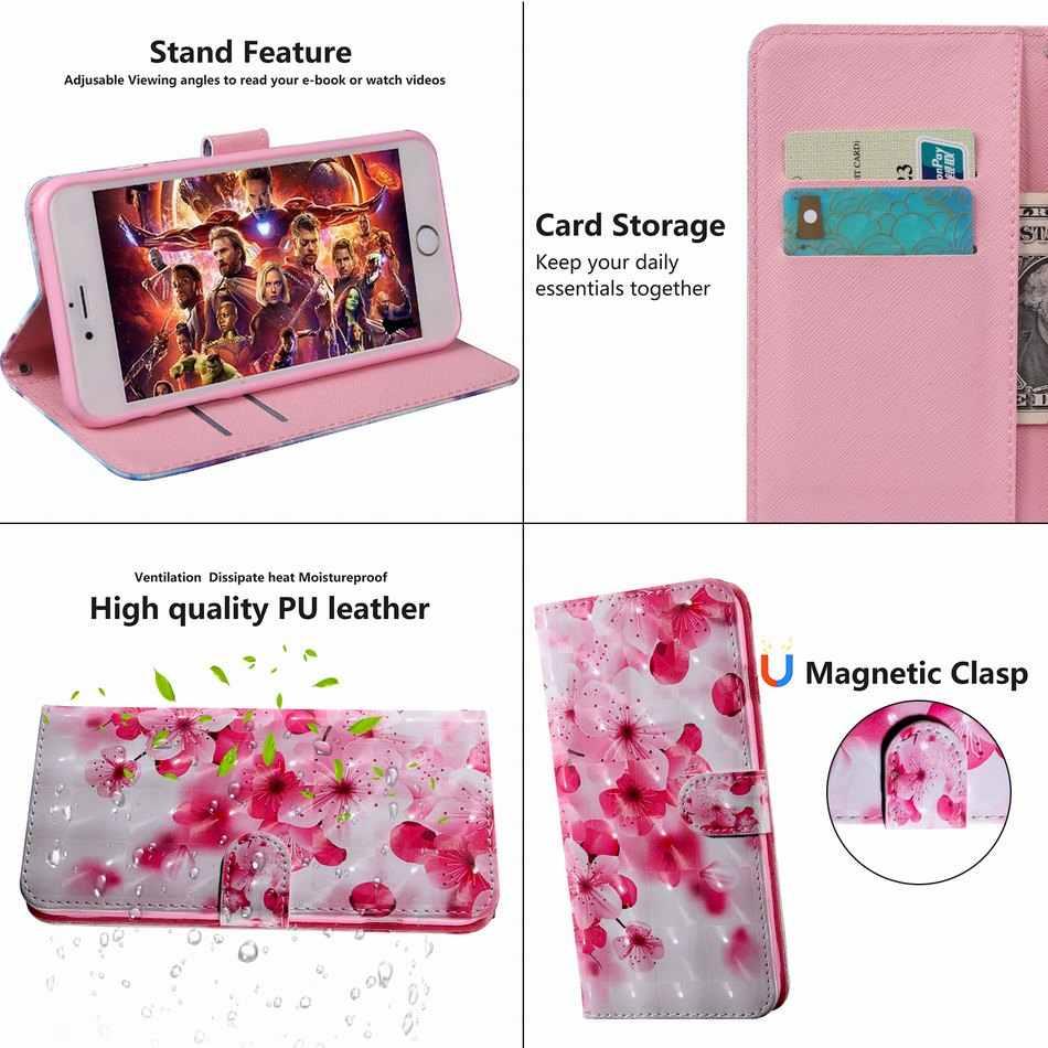 Капа чехлы из кожи, в виде бумажника роспись книжка чехол для huawei Y3 Y5 Y6 Y7 Prime 2017 2018 2019 Honor V20 20 V10 10i 10 9 Lite 8X 8C 7X P29G