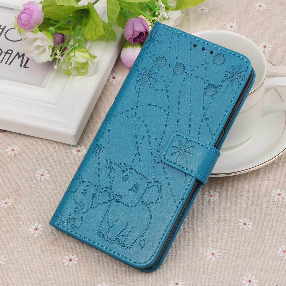 Flip Leather Book Phone Case Shell for Motorola Moto One G6 G7 Plus P30 Play Fireworks Elephant Texture Wallet Card Pocket