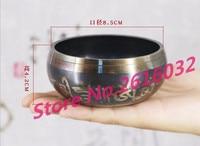 Exquisite Handmade Tibetan Bell Metal Singing Bowl with Striker for Buddhism Buddhist Meditation & Healing Relaxati 8.5cm