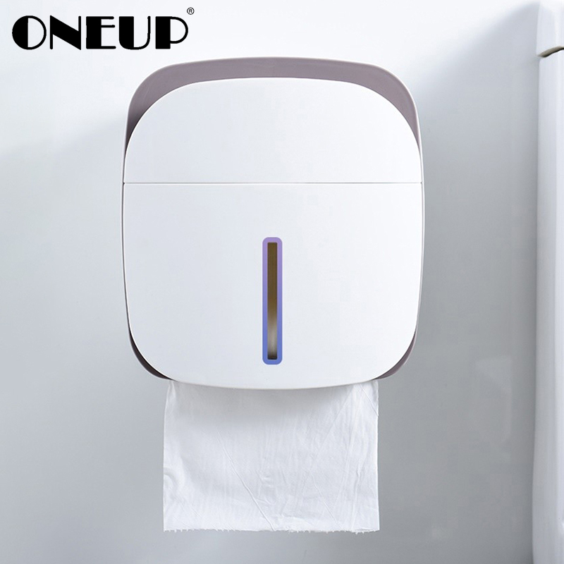 ONEUP Portable Toilet Paper Holders Bathroom Waterproof Tissue Box Garbage Bag Storage Shelf Multifunctional Toilet Paper Box