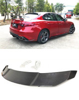 High Quality Carbon Fiber For Car Rear Wing Trunk Lip Spoilers For Alfa Romeo Giulia 2017 2018 2019 Vorstieiner GT Spoiler