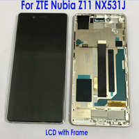 100% Tested Good Working LCD Display Touch Screen Digitizer Assembly Sensor with frame For ZTE Nubia Z11 NX531J phone parts