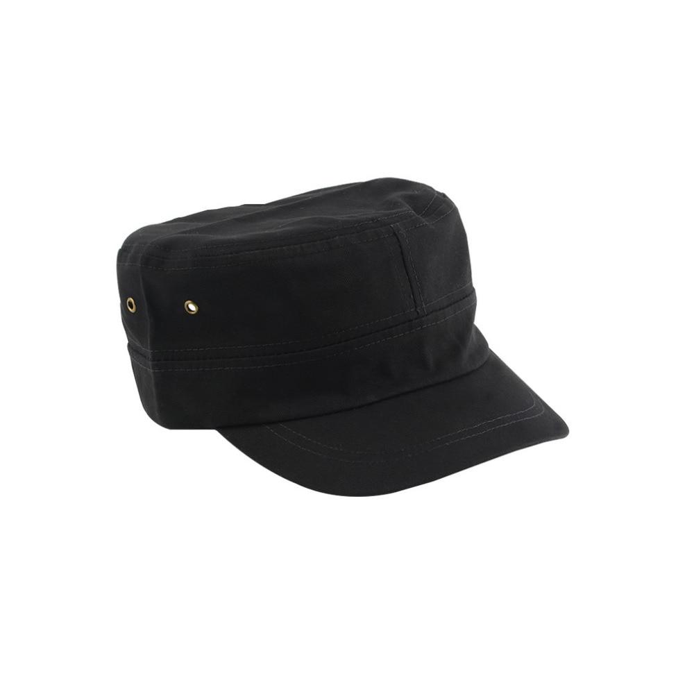 Sombrero de capitán primavera Negro hombres campo plano marca capitán  marinero sombreros Navy hombres mujeres Casquette militar Gorra Plana 0ad0c550b85
