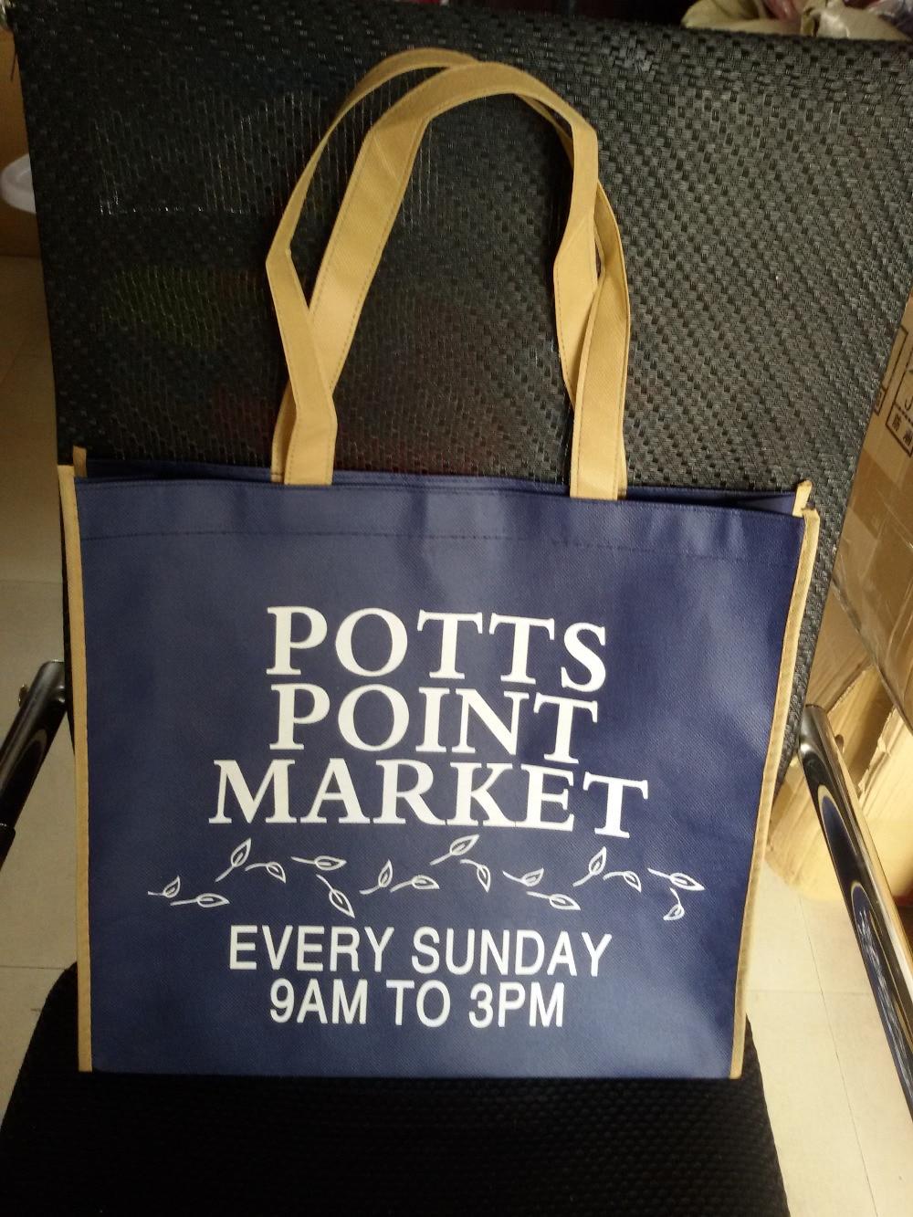 wholesales 1000pcs lot 35Hx40x10cm custom printed logo non woven reusable package gift shopping bags handbag eco