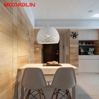 Nordic design lamp led pendant light dining room decoration suspension luminaire lampshade kitchen/bedside lustre light fixture