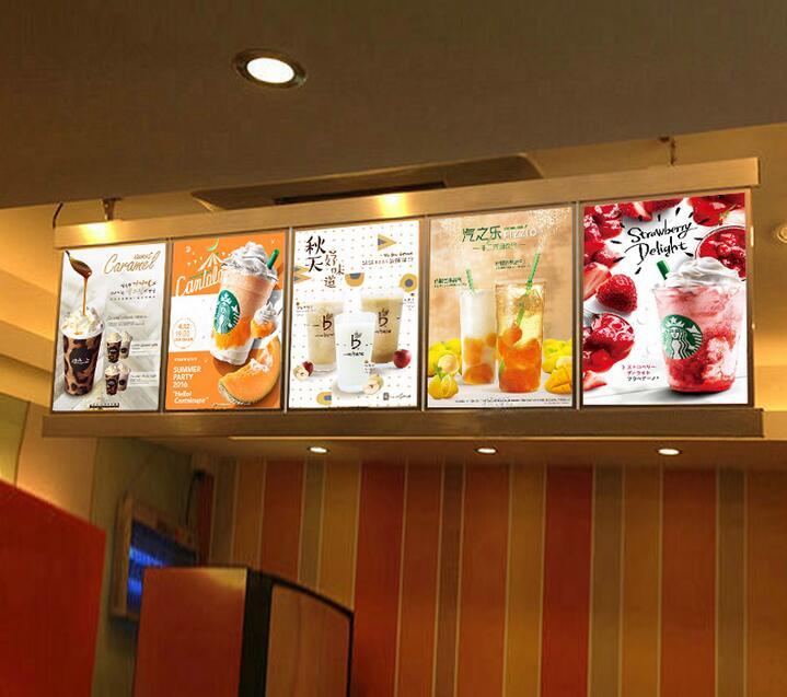5 Gtaphics Column Restaurant Led Menu Board Menu Display