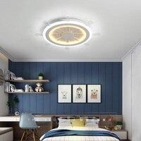 Modern Kids Room LED Ceiling Lights AC85 260V Rudder Lampara De Techo Children Bedroom Decor Lighting