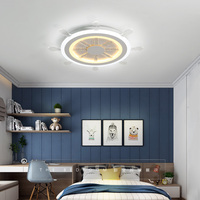 Modern Kids Room LED Ceiling Lights AC85 260V Rudder Lampara De Techo Children Bedroom Decor Lighting