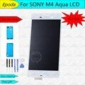 Para sony xperia m4 aqua e2303 e2353 e2333 display lcd touch screen digitador assembléia substituição + ferramenta + adesivo, frete Grátis