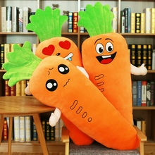 Hot 1pcs 45cm Creative Simulation Plush Toy Stuffed Carrot With Down Cotton Super Soft Pillow Gift For Girl kid