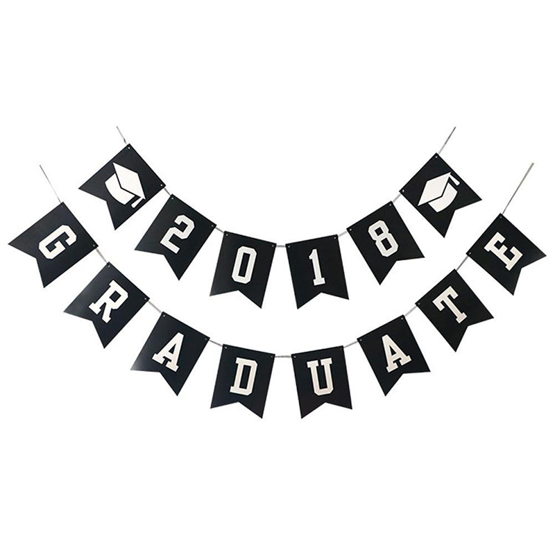 graduation party decoration graduate banner and balloons tassel