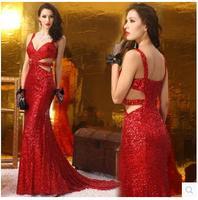 2015 LGF Phụ Nữ Mới may mặc Thương Hiệu lô handmade kim cương đuôi cá ăn mặc sexy gói hip V sâu dress hollow Thời Trang