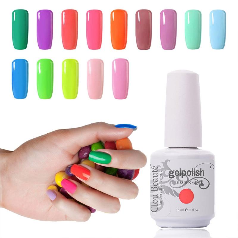 Calitate Premium Clou Beaute 15ml Alege 1 gel de unghii de culoare - Manichiură