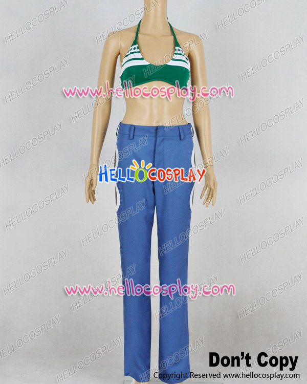 One Piece Cosplay Nami Green Bikini Suit Costume H008