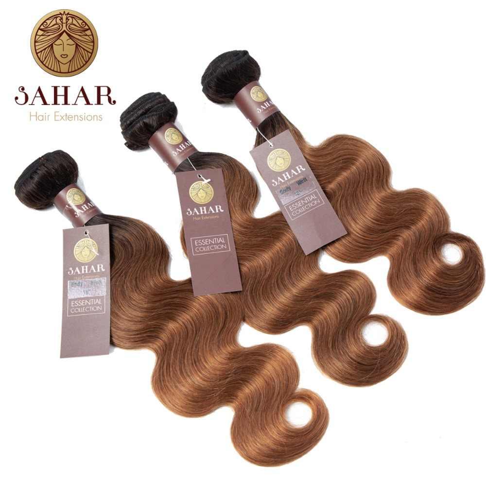 SAHAR Brezilyalı Vücut Dalga Saç Demetleri 100% insan saçı örgüsü Doğal Renk Remy Saç 12-24 Inç 1/3/ 4 adet Ücretsiz Kargo SHEBW