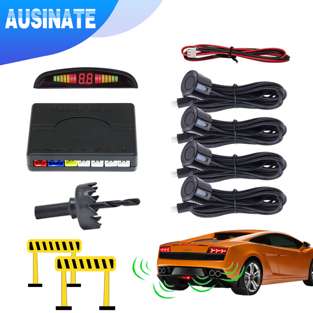 Worldwide delivery car parking sensor kit with 4 sensors in