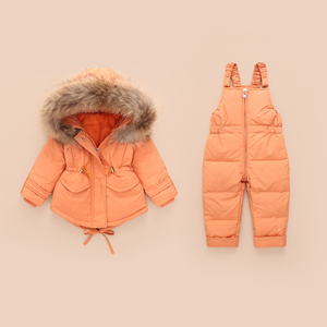 Image 4 - Russian Winter Jacket Kids Overalls for Girls Boys Kids Snowsuit Baby Boy Girl Coat Down Jackets Toddler New Year Clothing Set
