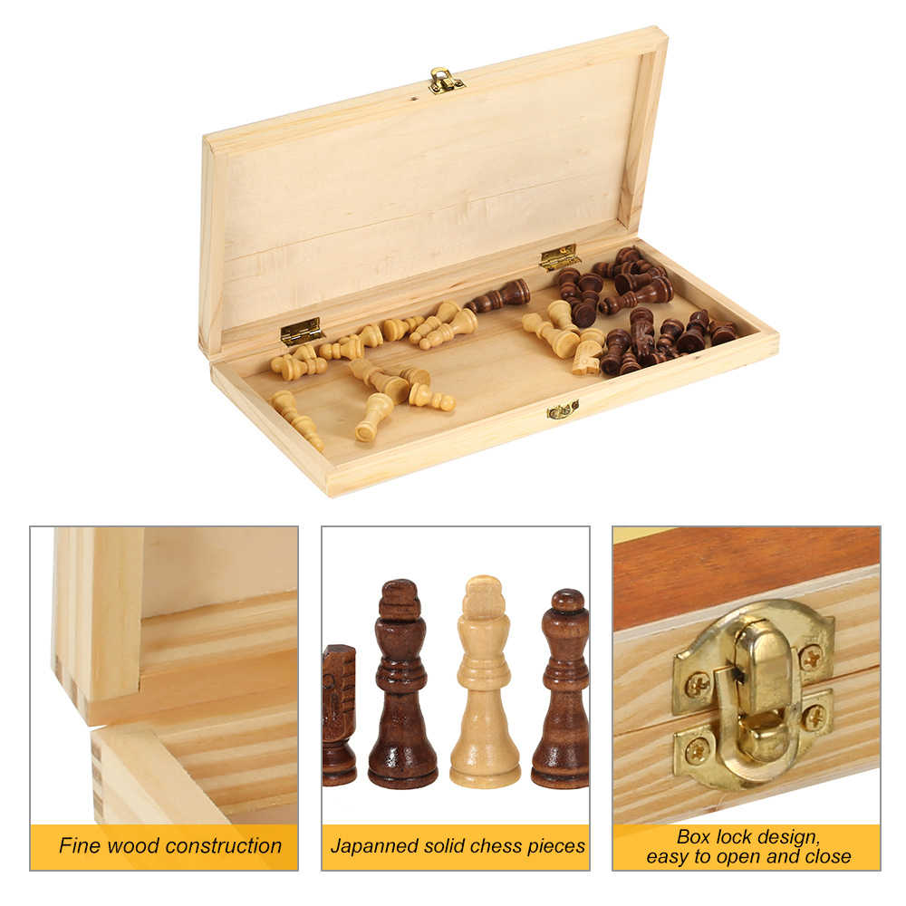 Деревянный Шахматный набор международный шахматный развлекательная игра шахматы с складная доска дорожные настольные игры на открытом воздухе шахматная доска
