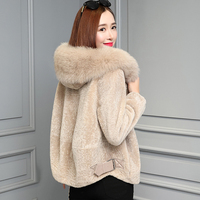 Largre Big Size Winter Coat Female Cotton padded Lambswool Coat Casaco Thick Casual Jaqueta Feminina Woolen Chaqueta Mujer