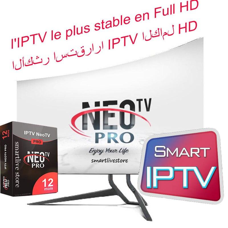 1 año árabe Francés Reino Unido Europa IPTV Italia código Neotv 1800 canales para USB Android Wifi TV Box