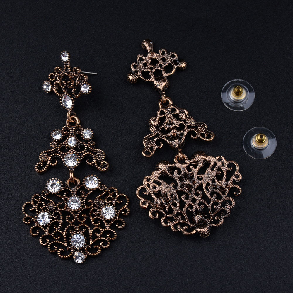 Ec315 baroque royal cz crystal rhinestone vintage gold color dangle ec315 baroque royal cz crystal rhinestone vintage gold color dangle drop chandelier earrings wholesale retail prom jewelry in drop earrings from jewelry aloadofball Images