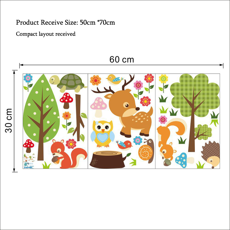 Rootstock of different forest plant species and mother plants are raised in a forest nursery. Cartoon Forest Animals Wall Sticker Kids Rooms Living Room Decals Wallpaper Bedroom Nursery Background Home Decor Stickers Home Decor Stickers Animal Wall Stickerswall Sticker Aliexpress