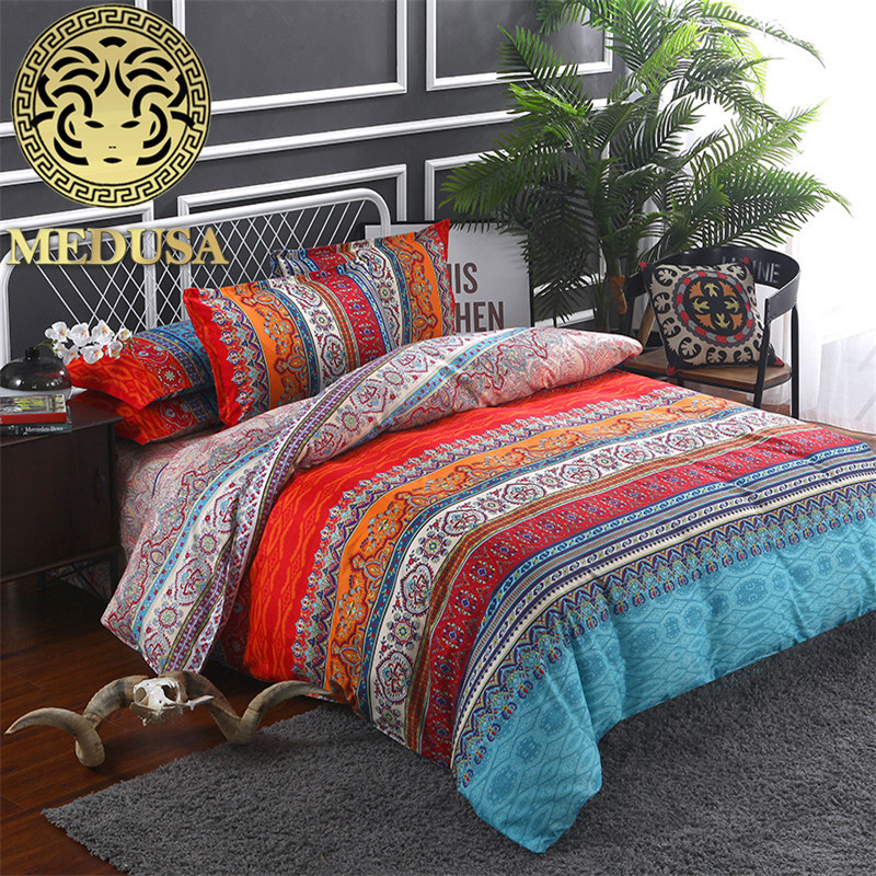 2018 Bohemian Paisley Patterned Vintage Bed Linen Set King Queen Full Twin Size Duvet/doona Cover Set
