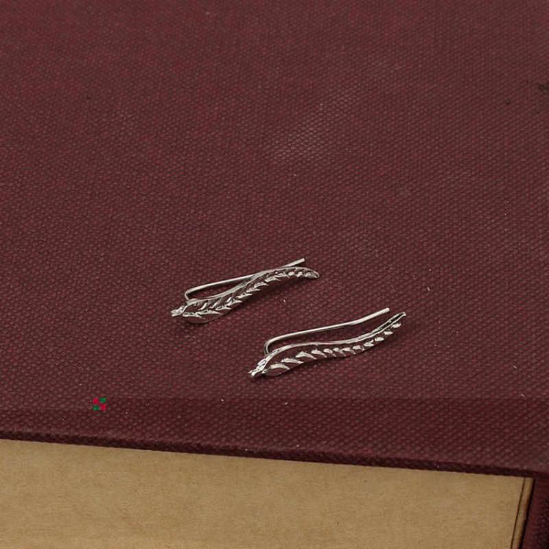 أزياء بسيطة الأقراط المعدنية الحديثة مجوهرات حساسة الذهب اللون ليف أقراط للنساء جميلة ريشة أقراط بيع