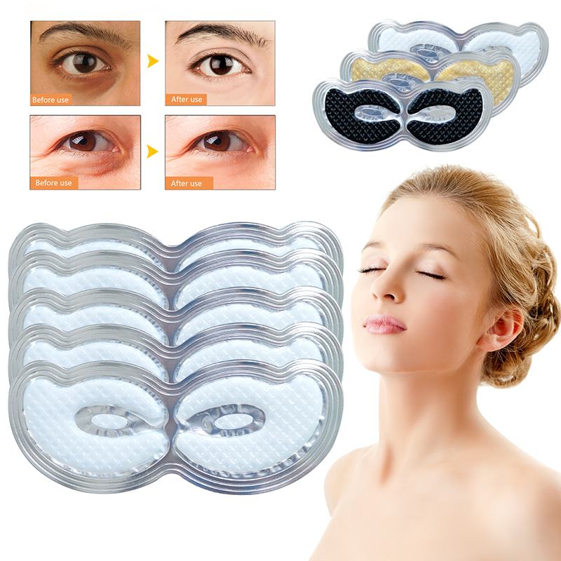 Eye-Mask Colageno-Gel Crystal Dark-Circles/puffiness 1pack 2pcs Moisturizing TSLM1