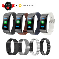 [HOT] Huami Amazfit Cor Midong Smart Bracelet Replacement Metal Milan Stainless Steel Leather Watch Bracelet Strap Band