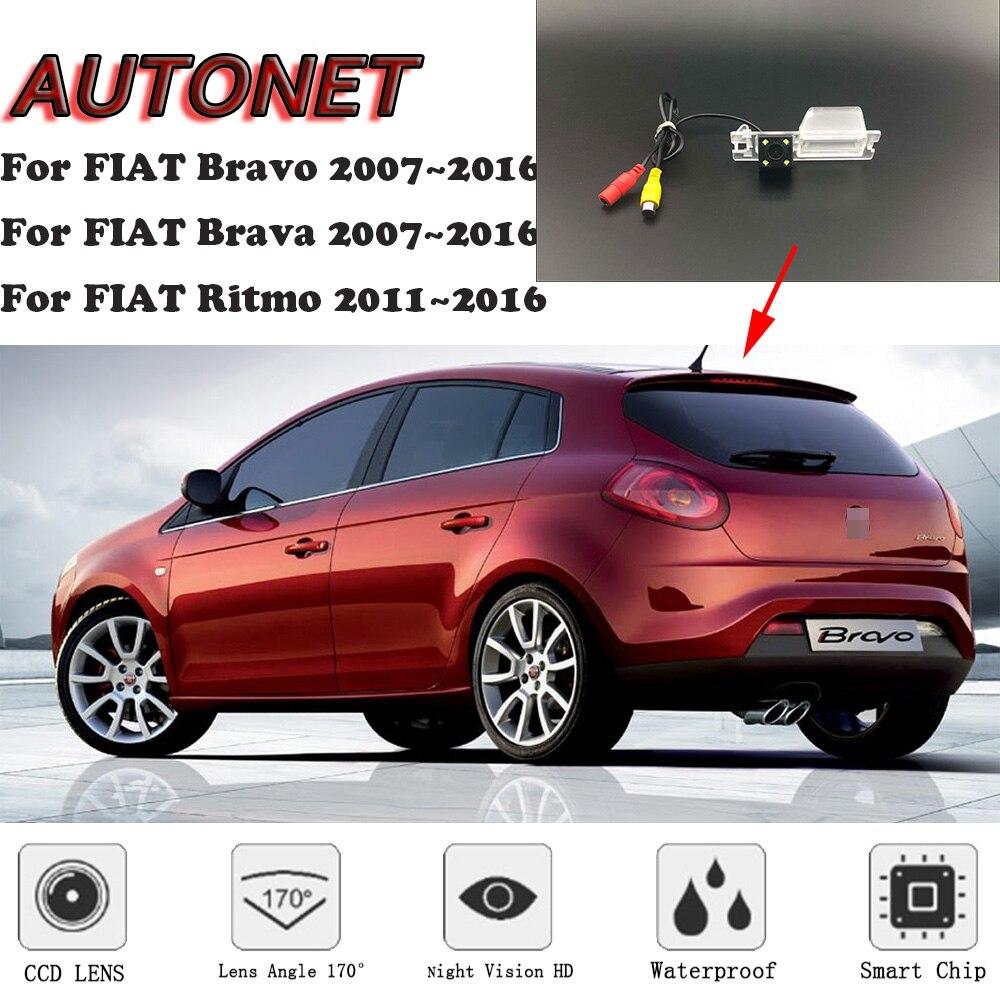 AUTONET HD Night Vision Backup Rear View Camera For FIAT Bravo Brava Ritmo 2007~2016 CCD/license Plate Camera