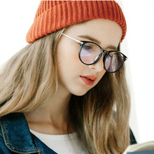 Retro Metal Round Glasses Frame Women Transparent Optical Lens Unisex Computer Anti-blue
