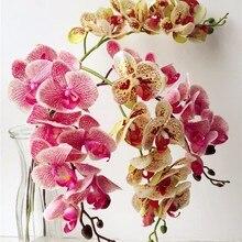 One Real Touch орхидеи бабочка фаленопсис белый/розовый/желтый искусственный Голубь из латекса Cymbidium орхидеи Цветы для свадебного украшения