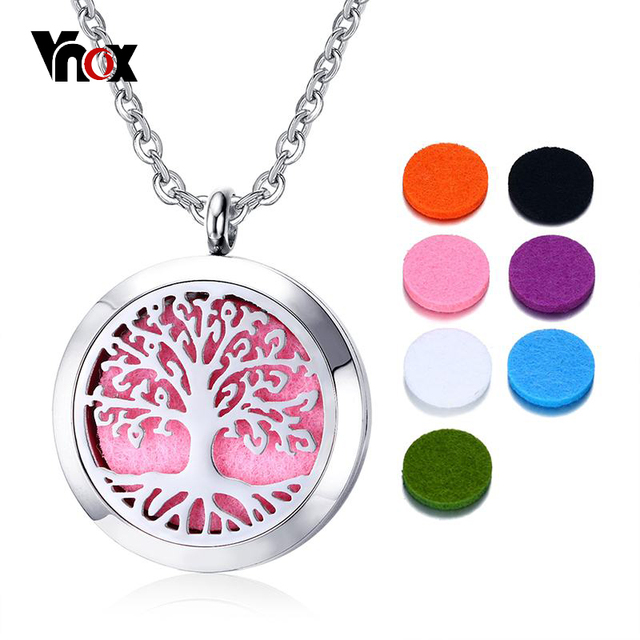 Vnox openable weekly mood pendant women necklace perfume life tree vnox openable weekly mood pendant women necklace perfume life tree necklaces party jewelry stainless steel 7pcs aloadofball Gallery
