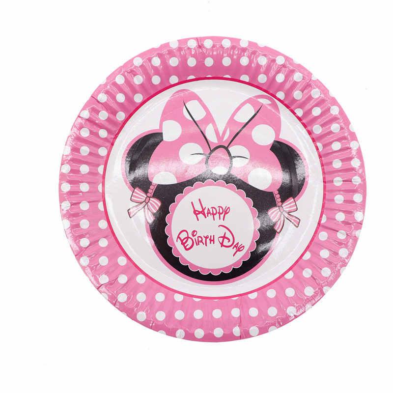 10 Piunidslote Rosa Minnie Mouse Cumpleaños Fiesta Minnie