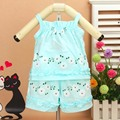 Baby Girl Clothes Set New 2016 Summer 100% Cotton Colorful Flower Cute Vest Clothing For Newborns Babies Children Sets BBS033